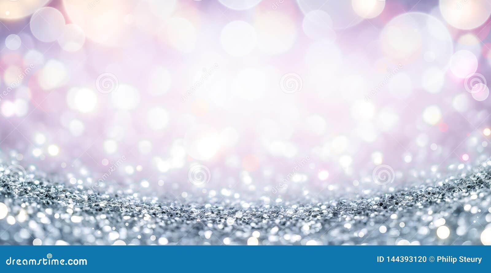 Fundo de prata do glitter