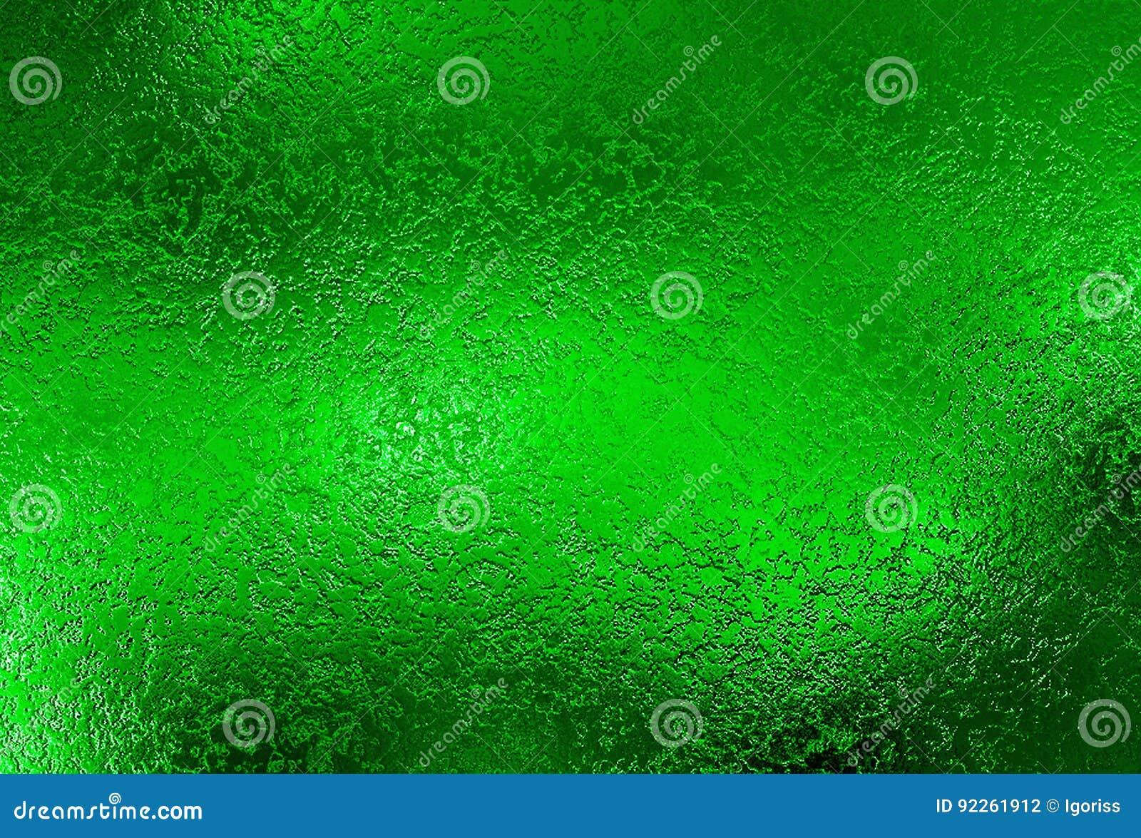 Fundo de prata verde Textura decorativa da folha de metal