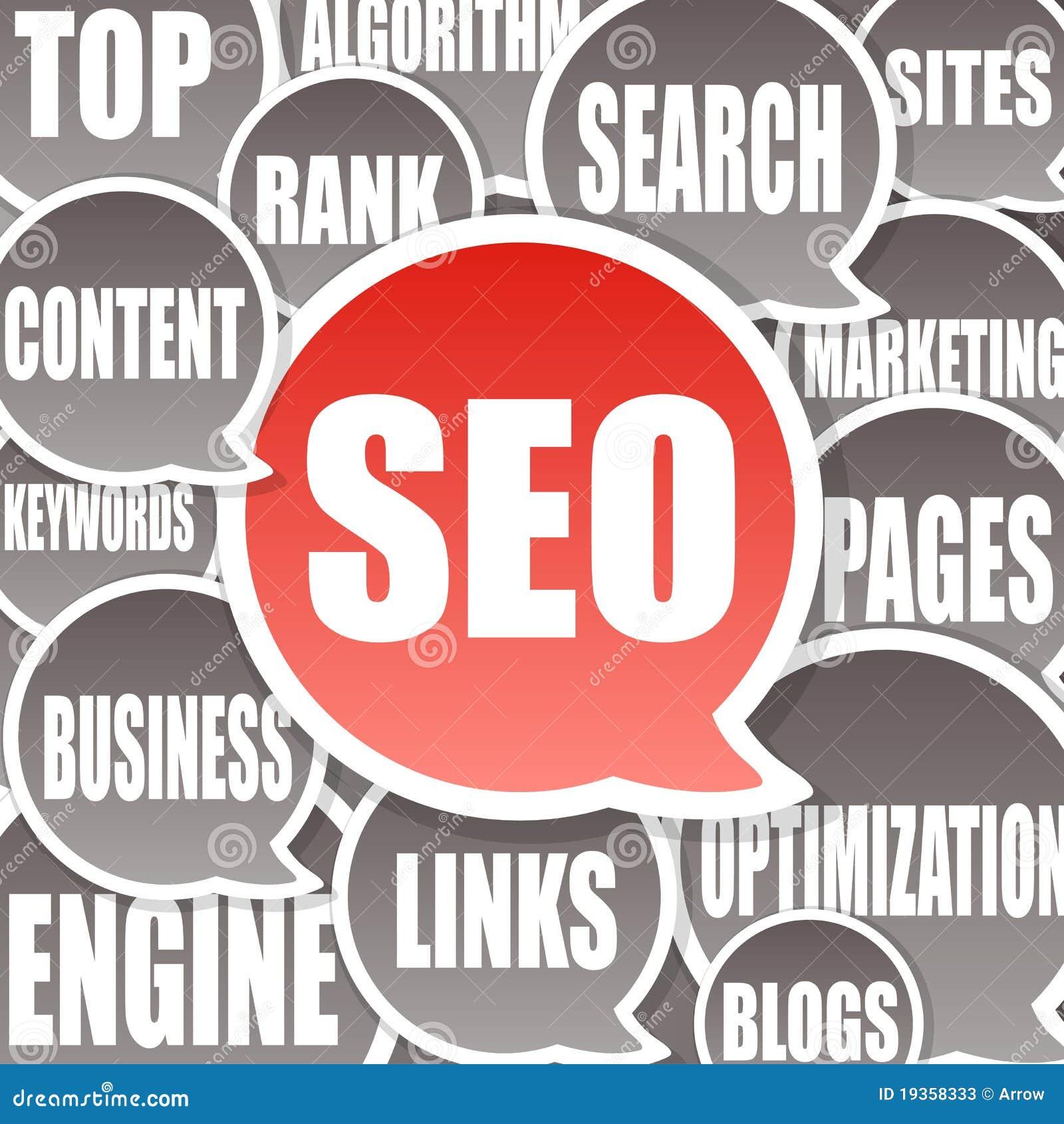 Fundo de SEO - optimização do Search Engine