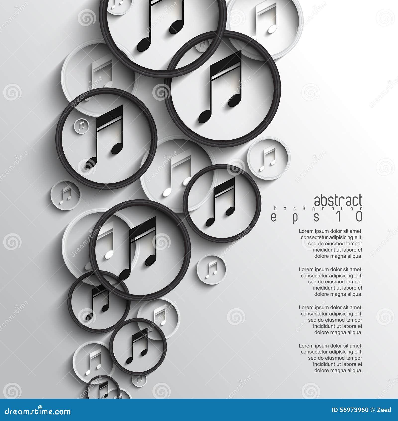 Fundo de sobreposição da nota da música do vetor