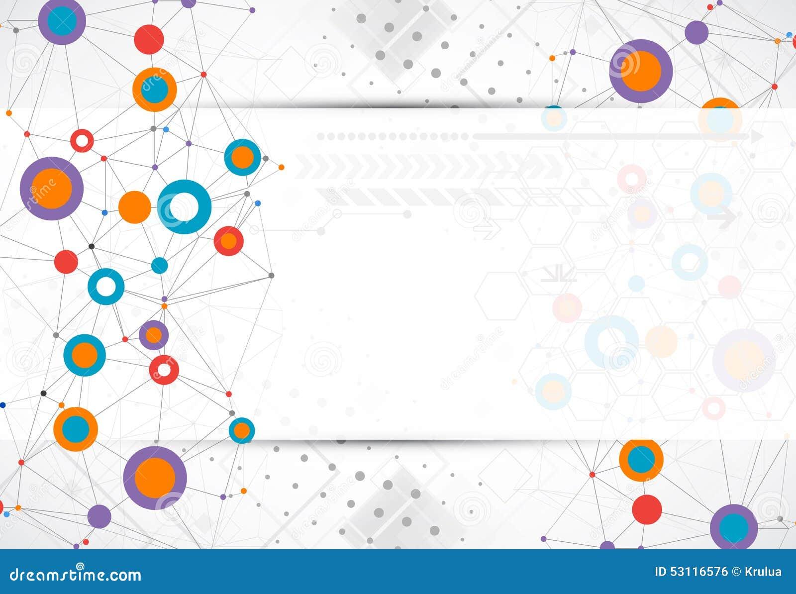 Fundo de uma comunicação da tecnologia da cor da rede