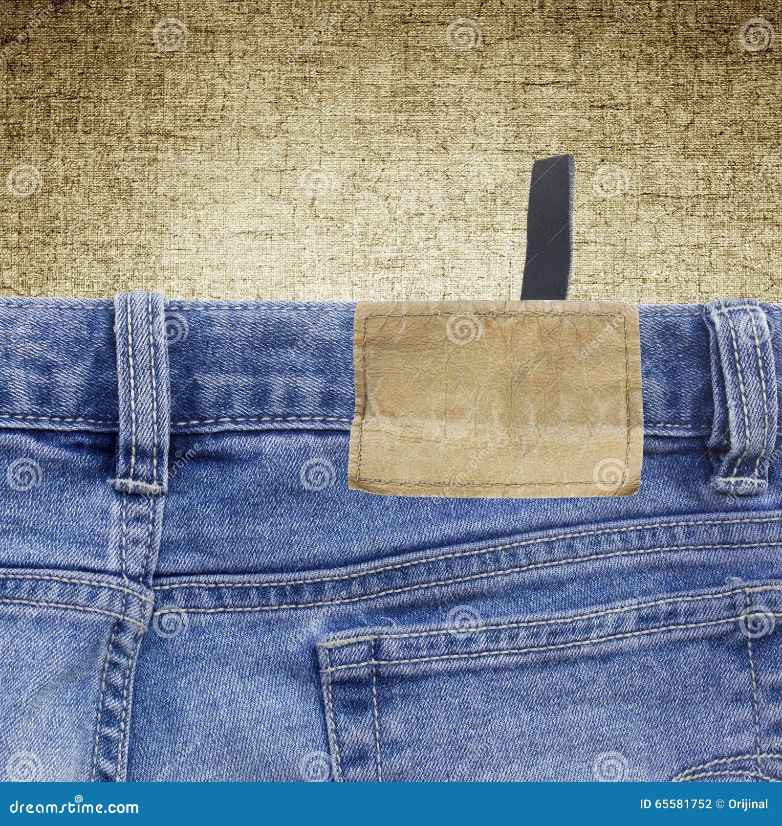 Fundo de uma tela e de um papel de parede das calças de brim