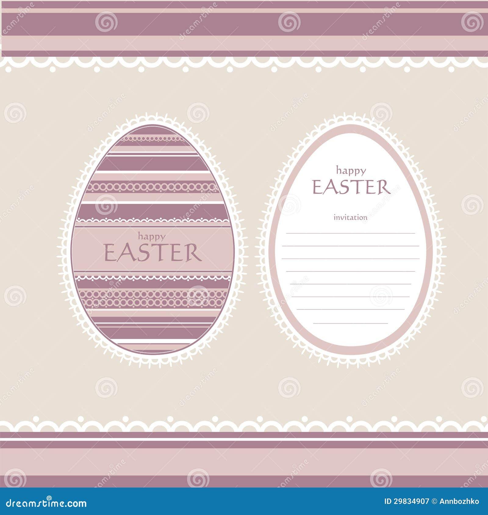 Cartão do convite de Easter