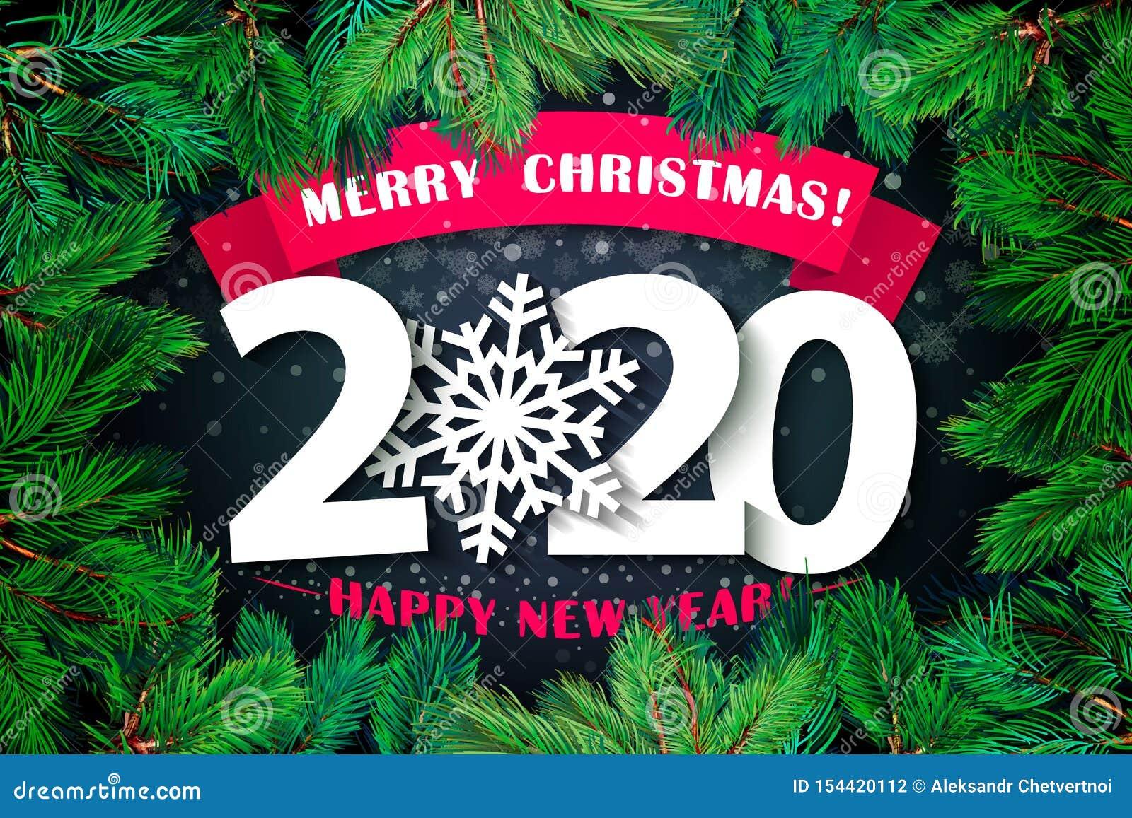 Fundo Do Ano 2020 Novo Feliz Ano Novo Feliz E Feliz Natal Da