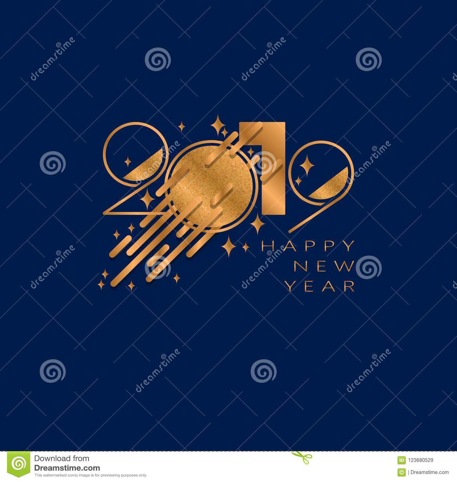 Fundo do ano 2019 novo feliz para convites temáticos dos insetos e do cartão ou do Natal de cumprimentos