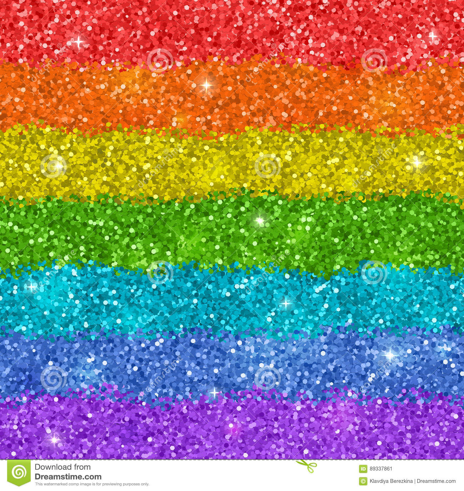 Fundo do arco-íris com textura brilhante do brilho Vetor