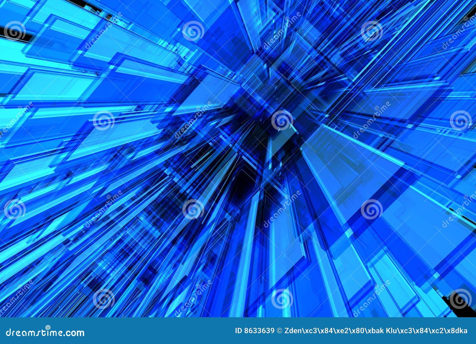 Fundo do azul 3D
