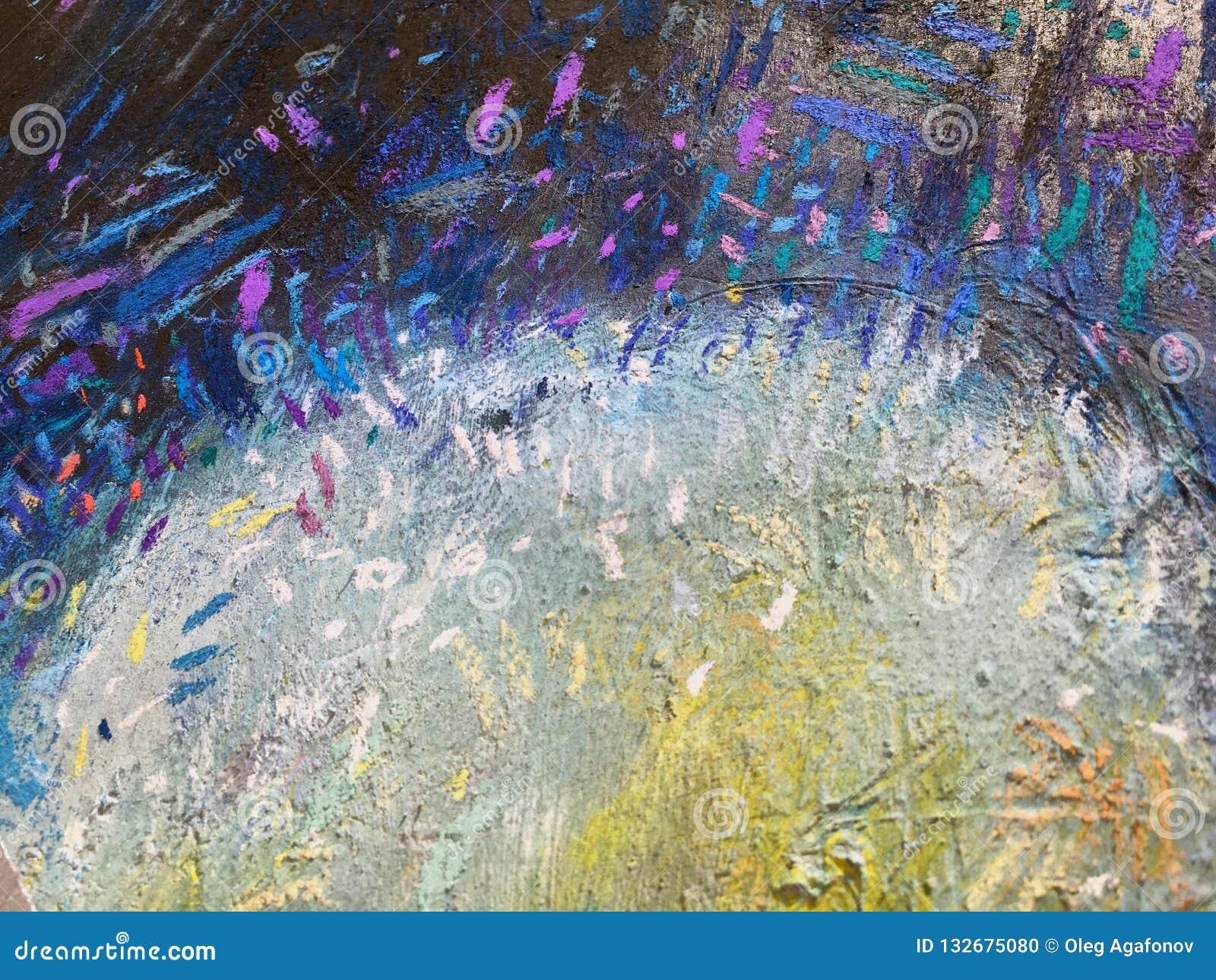 Fundo do céu do ouro do expressionismo Textura de pintura na moda