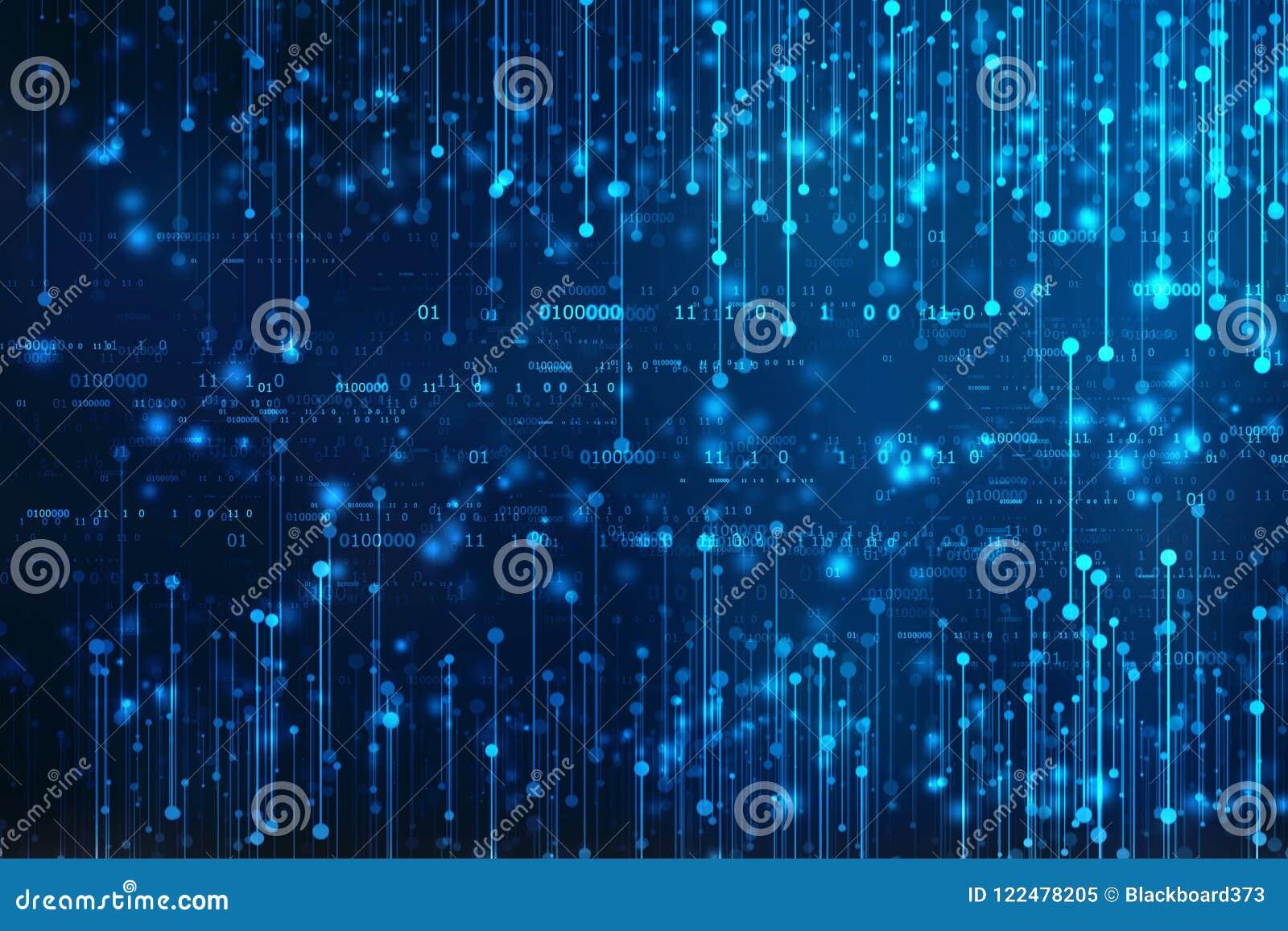 Fundo do código binário, fundo abstrato da tecnologia de Digitas