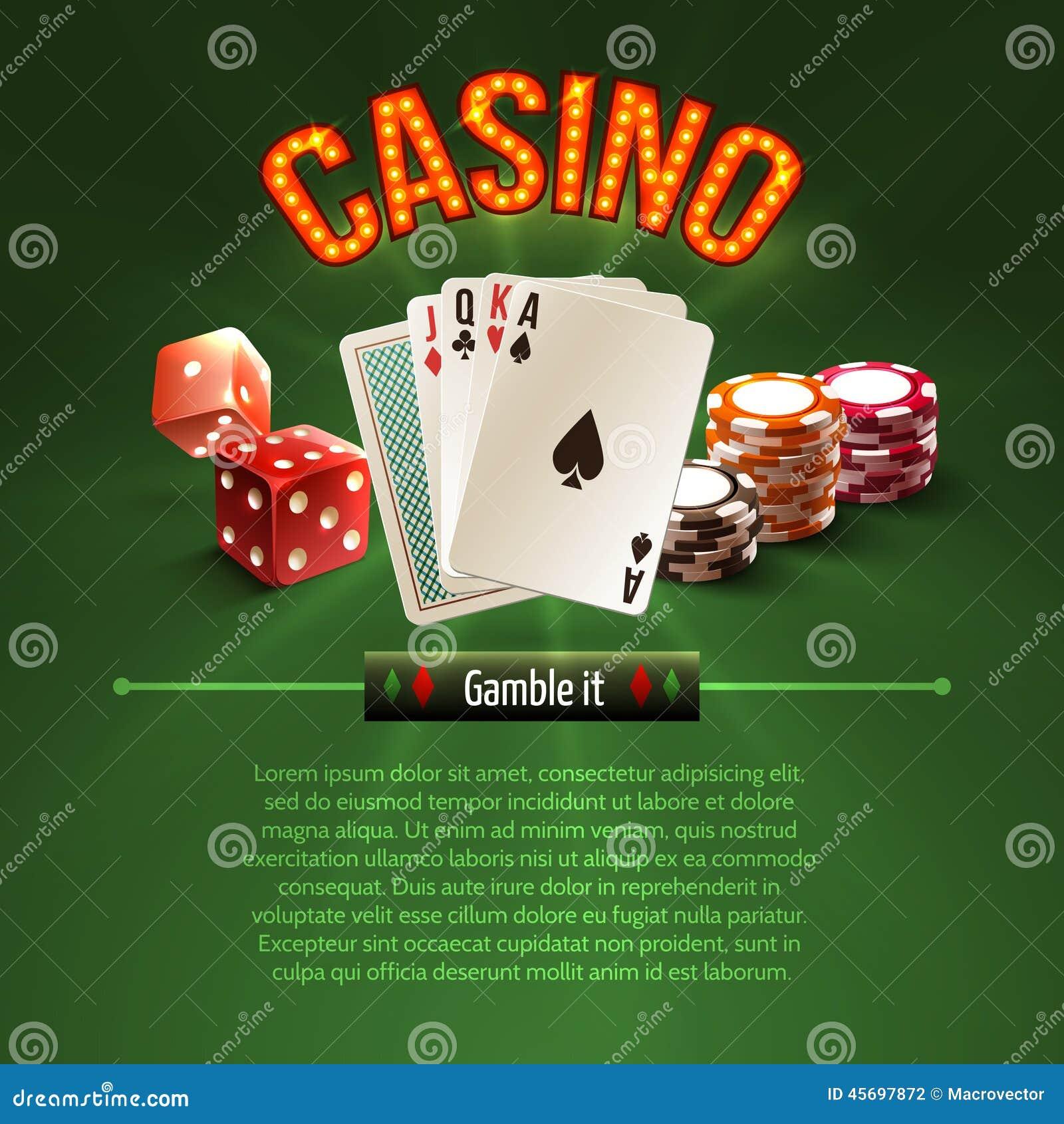 Fundo do casino de Pocker