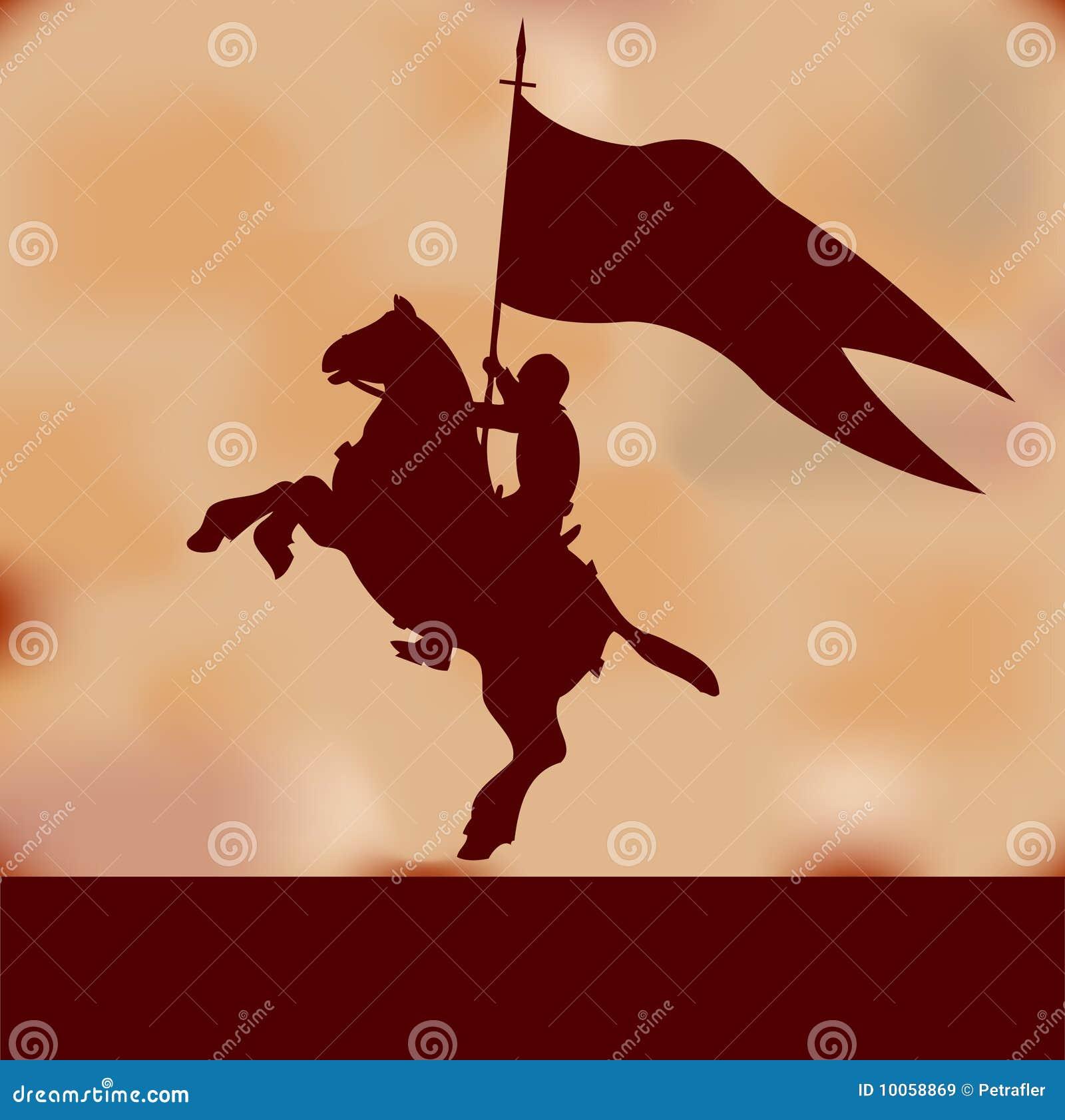 Fundo do cavaleiro da bandeira