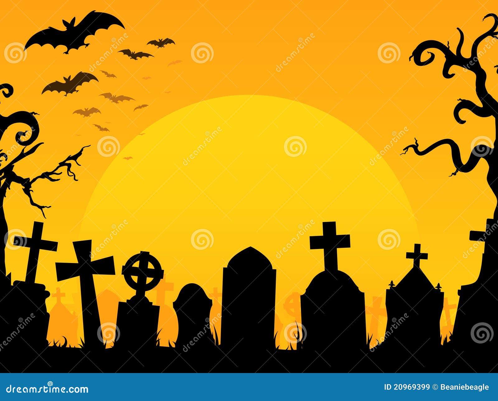 fundo do cemitério de halloween ilustração do vetor ilustração de