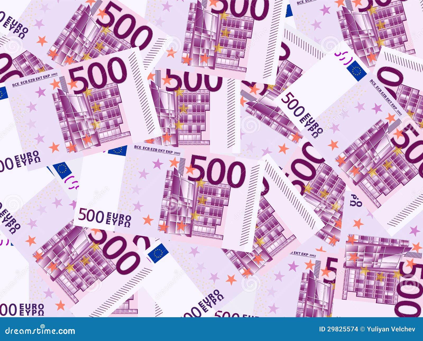 Cinco cem fundos do euro