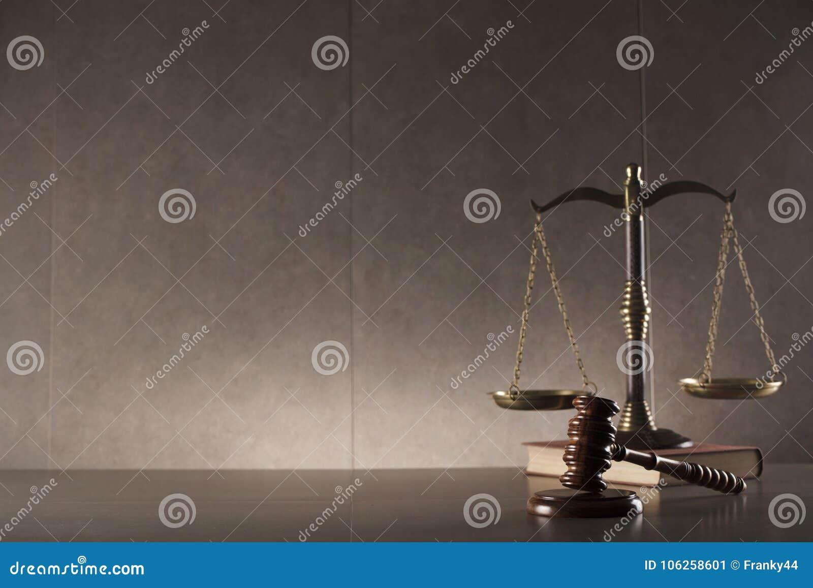 Fundo do conceito da lei e da justiça