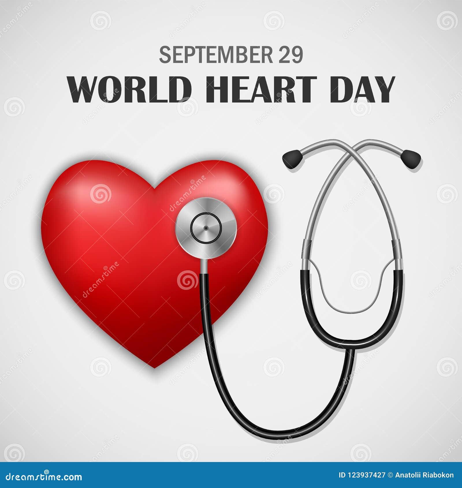Fundo do conceito do dia do coração do mundo, estilo realístico