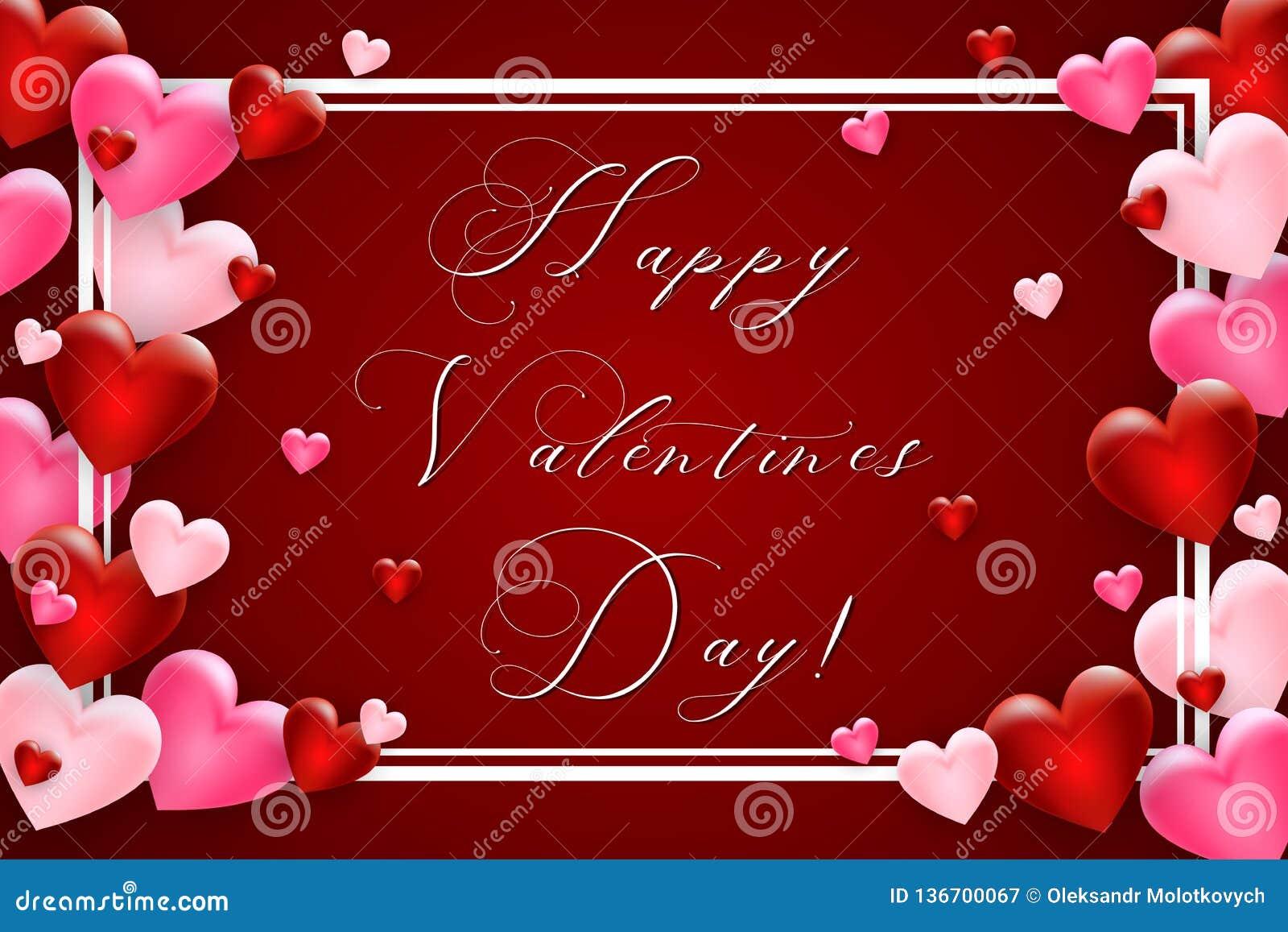 Fundo do dia dos Valentim com coração Molde para seu projeto do dia de Valentim Vetor