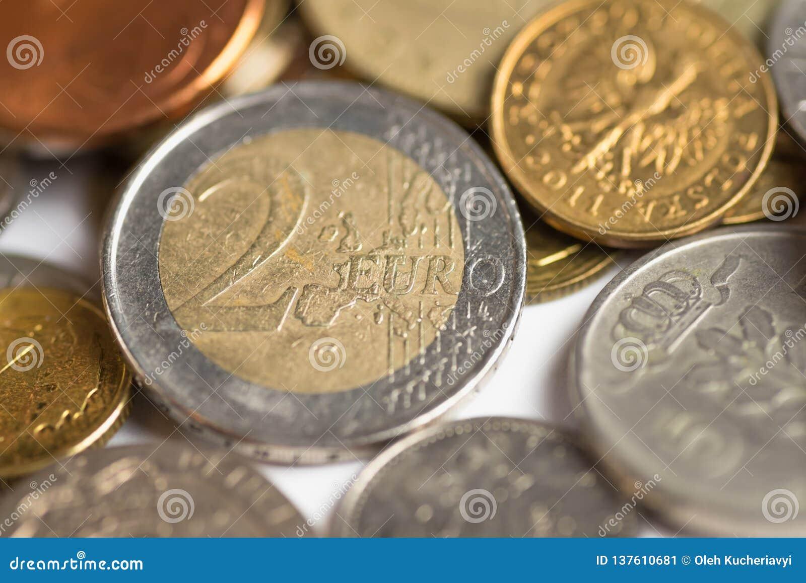 Fundo do dinheiro das moedas