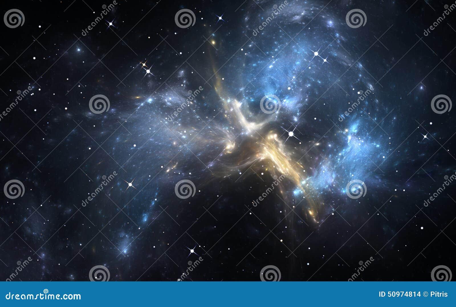 Ilustração Gratis Espaço Todos Os Universo Cosmos: Fundo Do Espaço Com Nebulosa E As Estrelas Azuis
