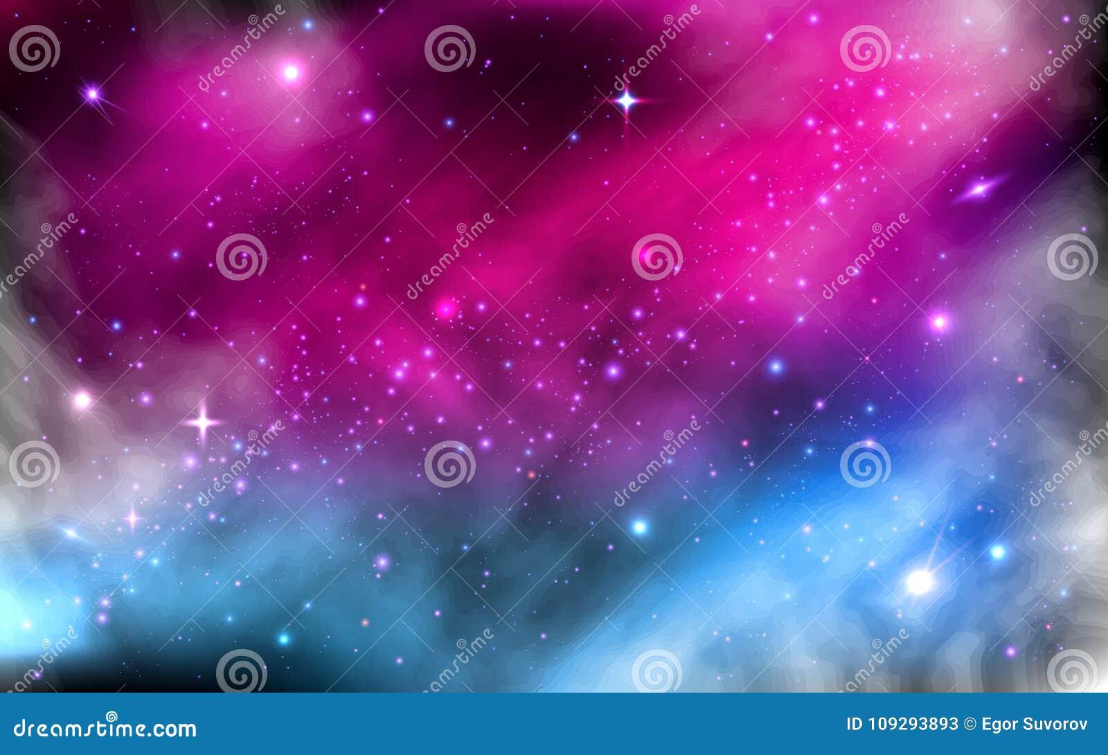 Fundo do espaço Nebulosa estrelado colorida Via Látea com a galáxia do espaço do stardust e as estrelas de brilho brilhantes futu