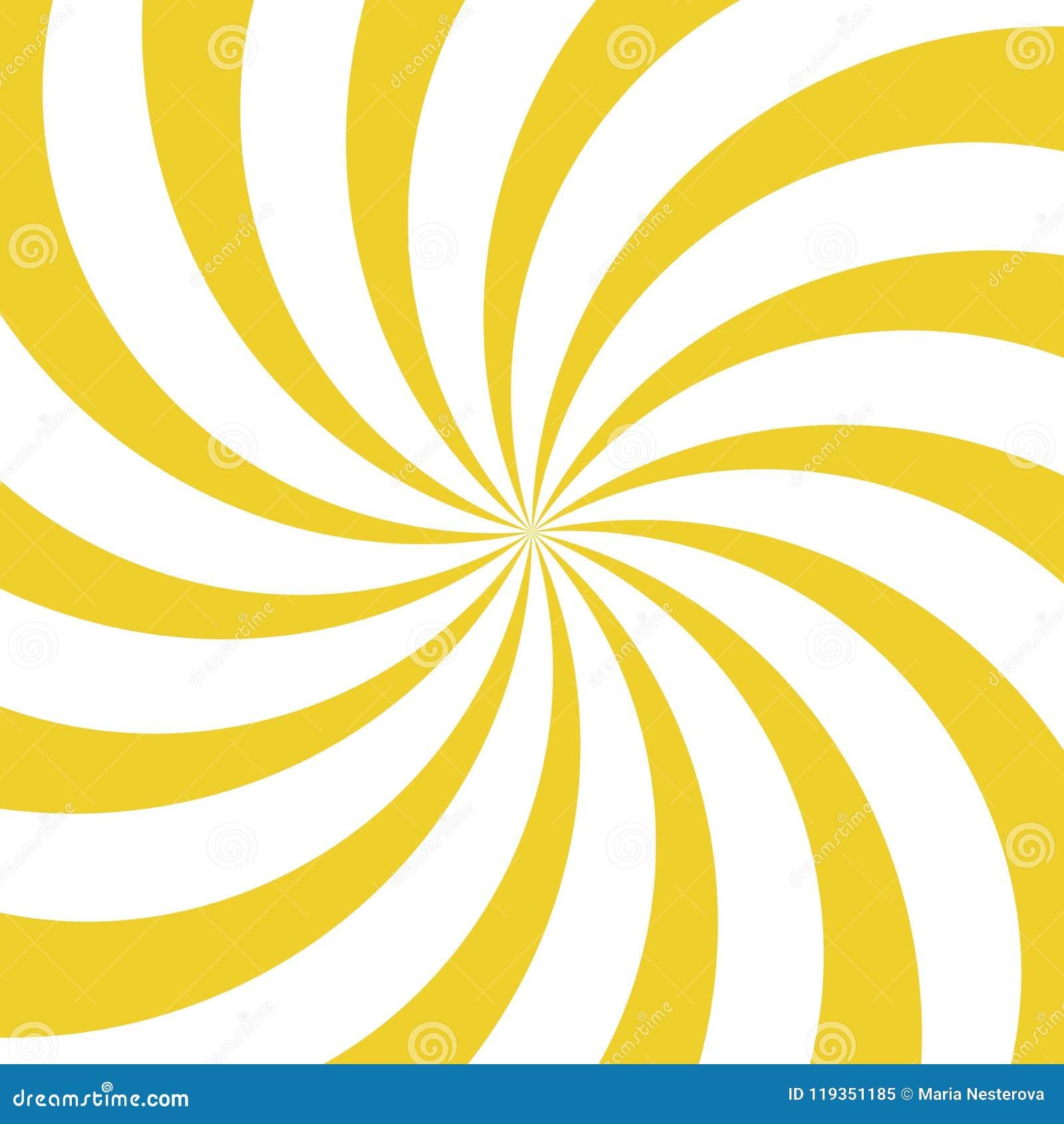 Fundo do giro da luz solar Fundo amarelo e branco da explosão de cor Ilustração do vetor