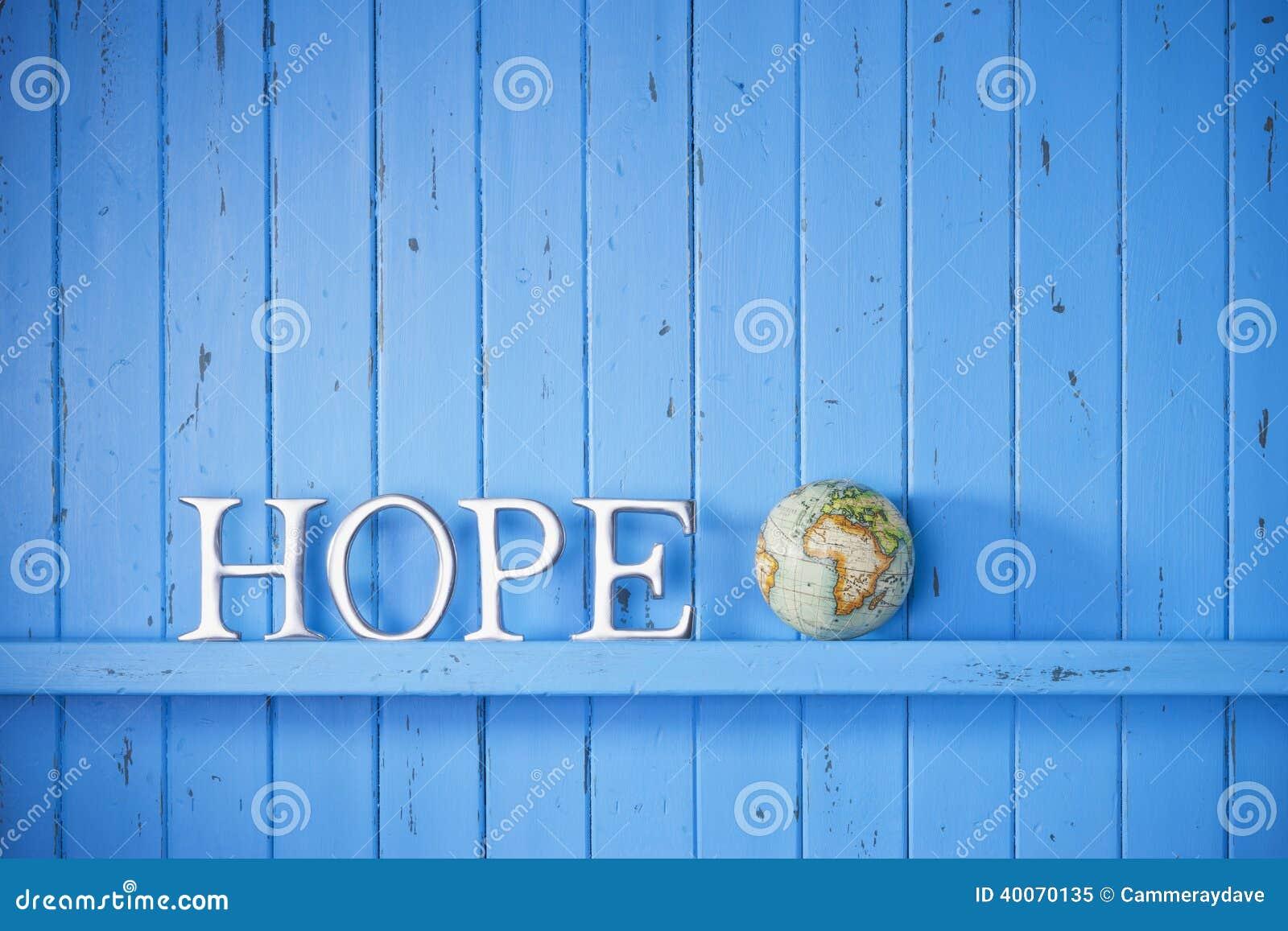 Fundo do globo do mundo da esperança