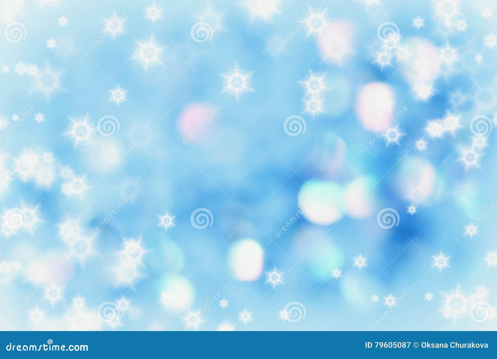 Fundo do inverno do Natal com flocos de neve bonitos