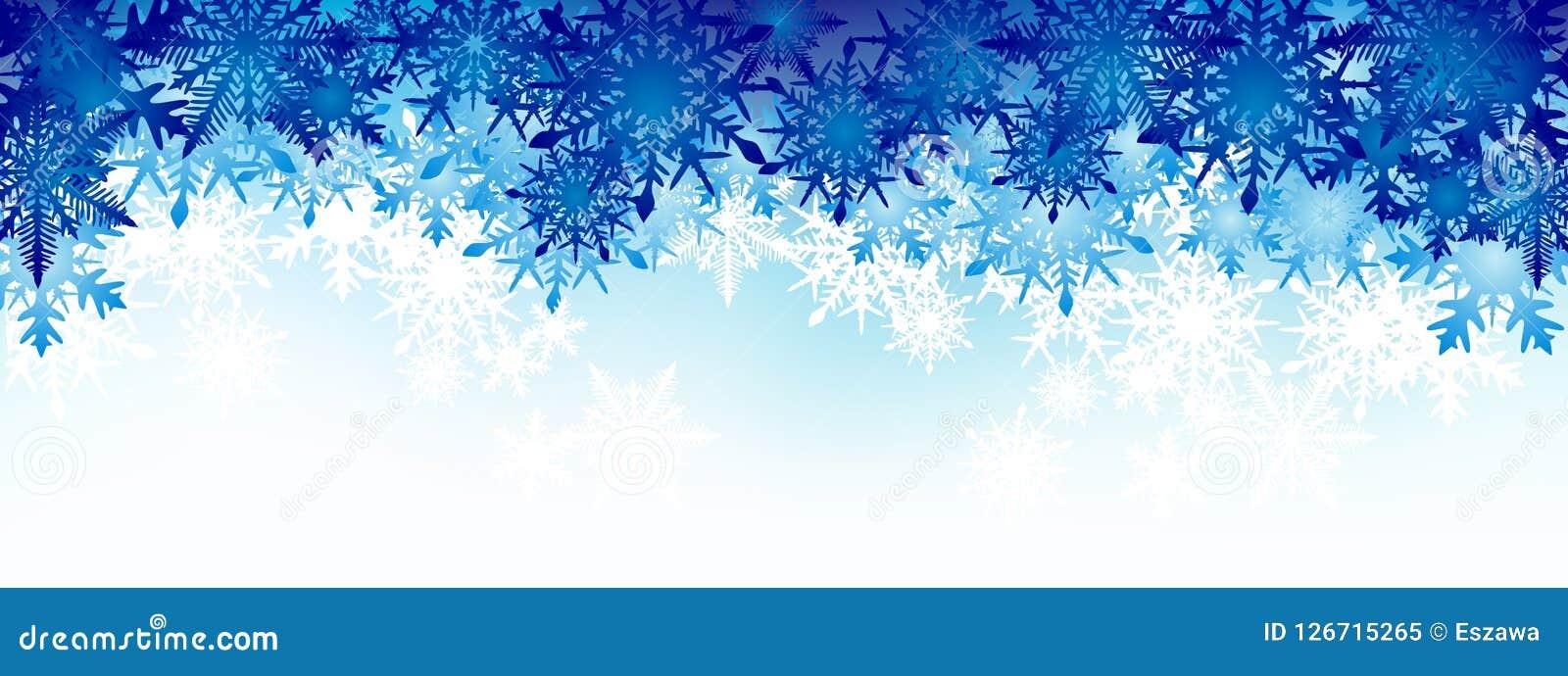 Fundo do inverno, flocos de neve - ilustração do vetor