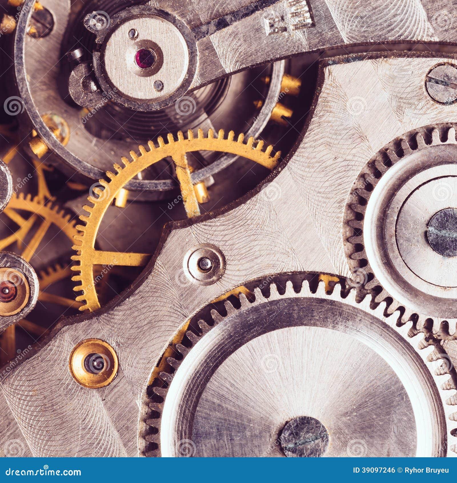 Fundo do maquinismo de relojoaria