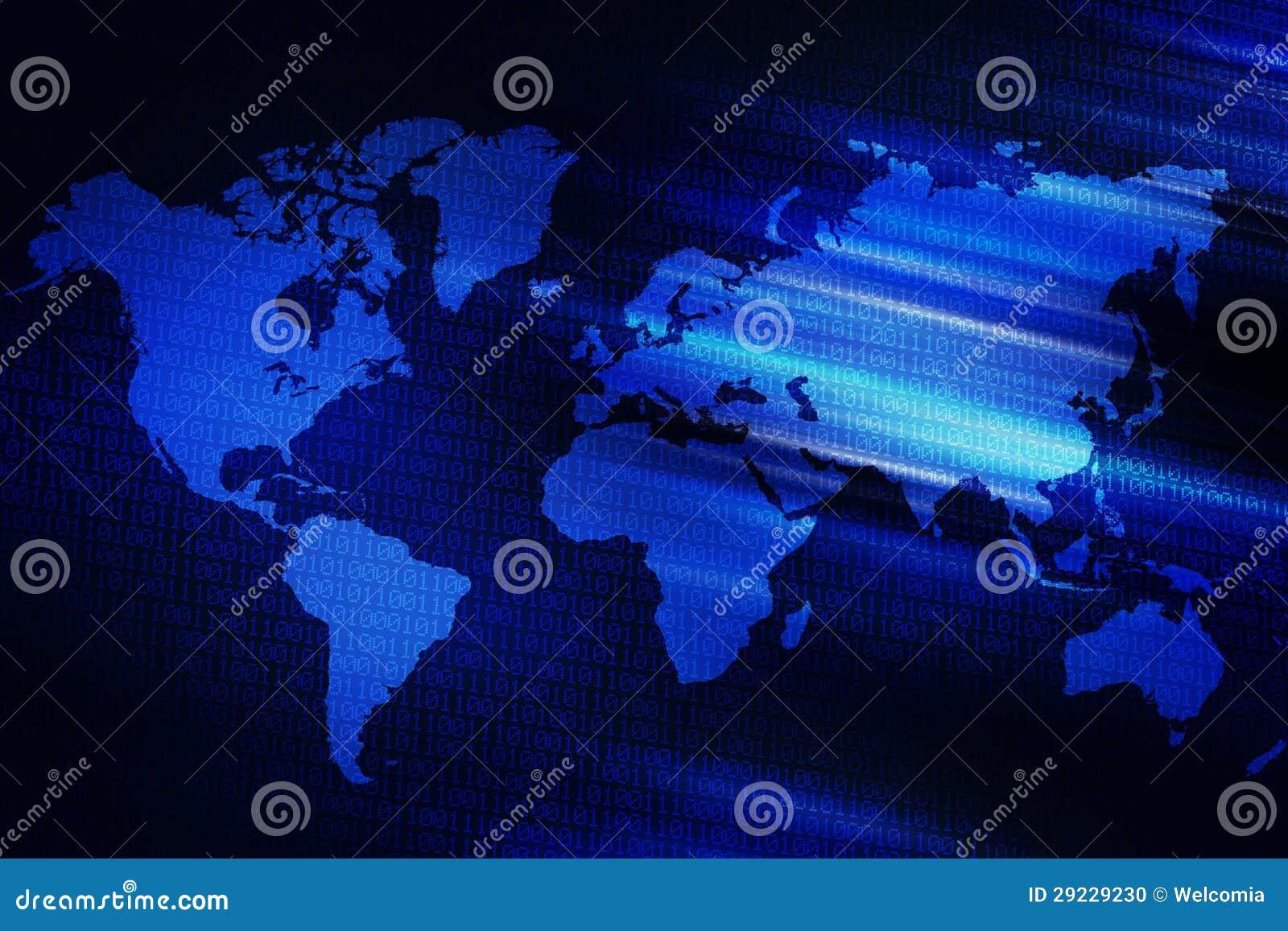 Download Fundo do mundo de Digitas ilustração stock. Ilustração de espaço - 29229230