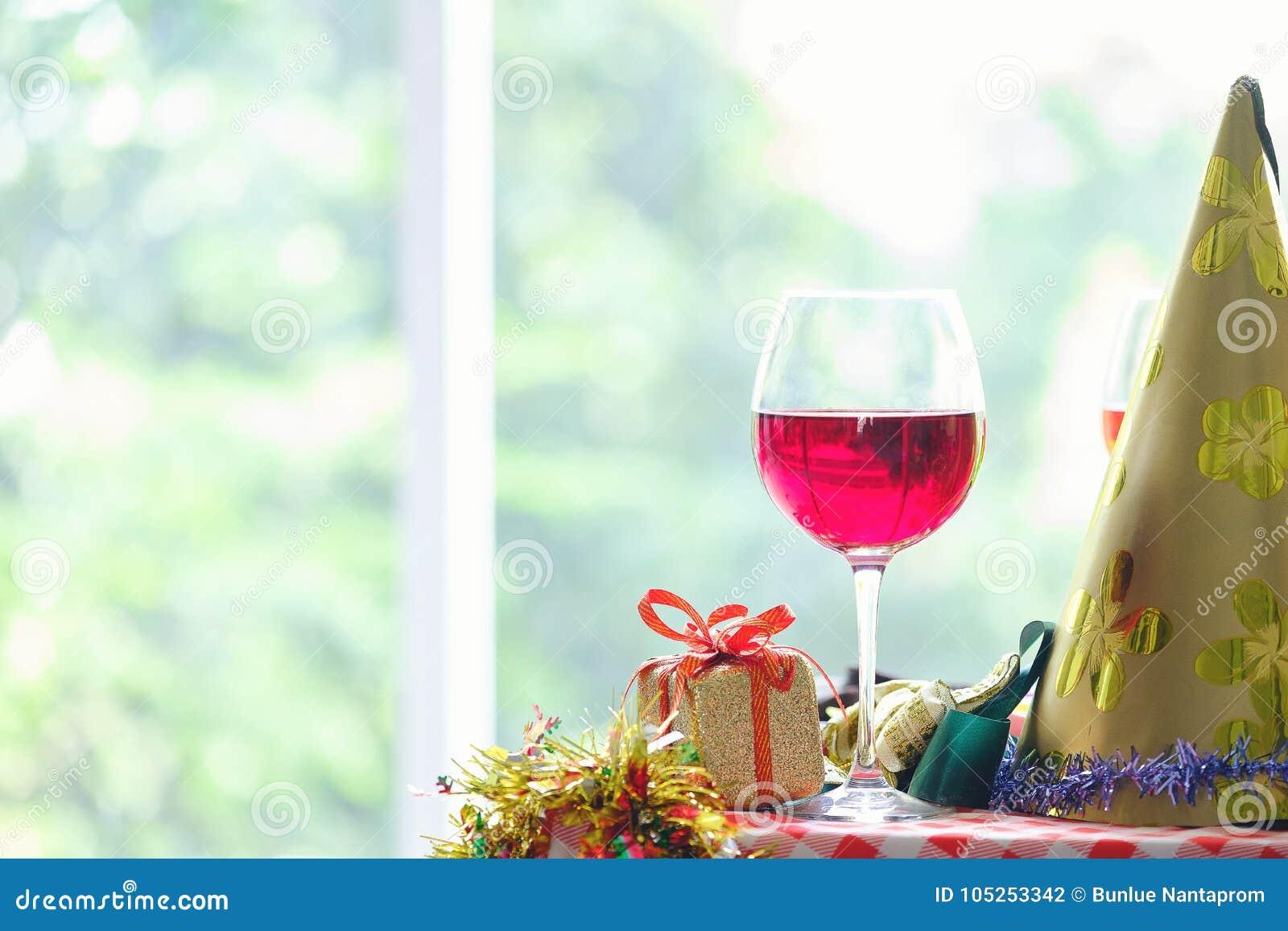 Fundo do Natal, cocktail da paixão do feriado contra bonito