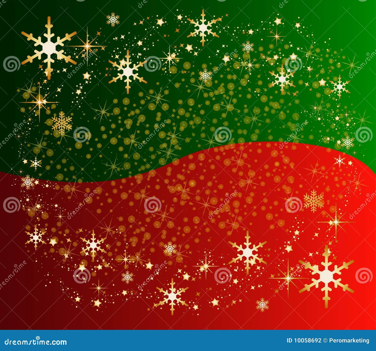 Fundo do Natal com estrelas e presente