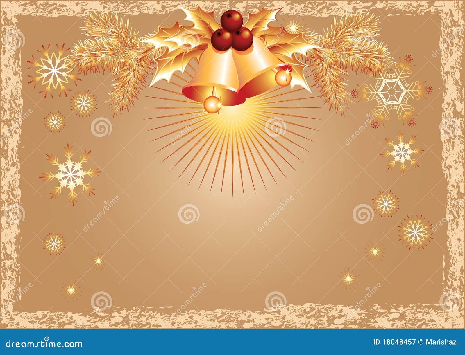 Fundo do natal com sinos fotografia de stock royalty free for Bordas para mural