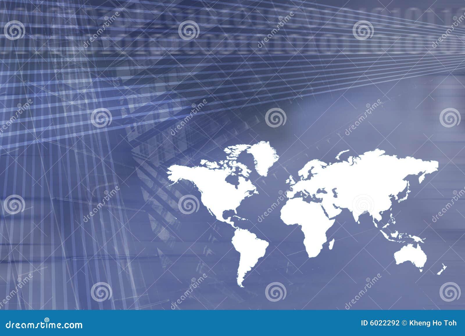 Fundo do negócio da economia global