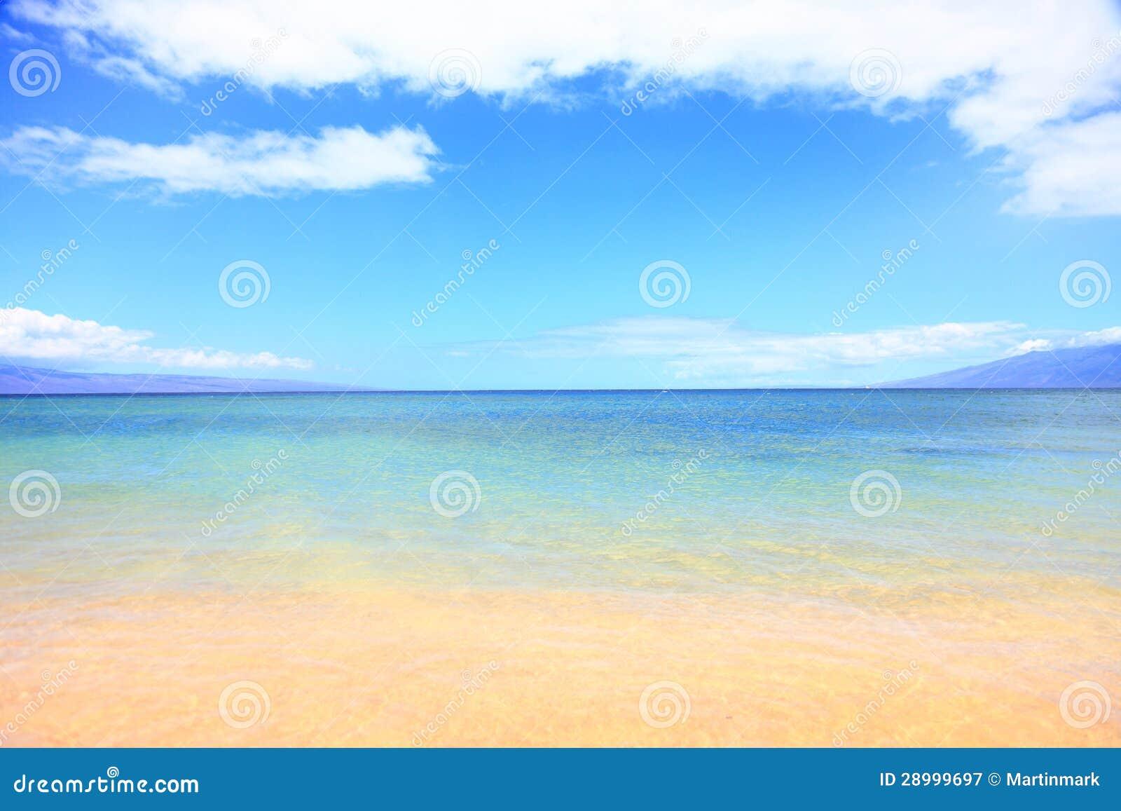 Fundo do oceano da praia do verão das férias