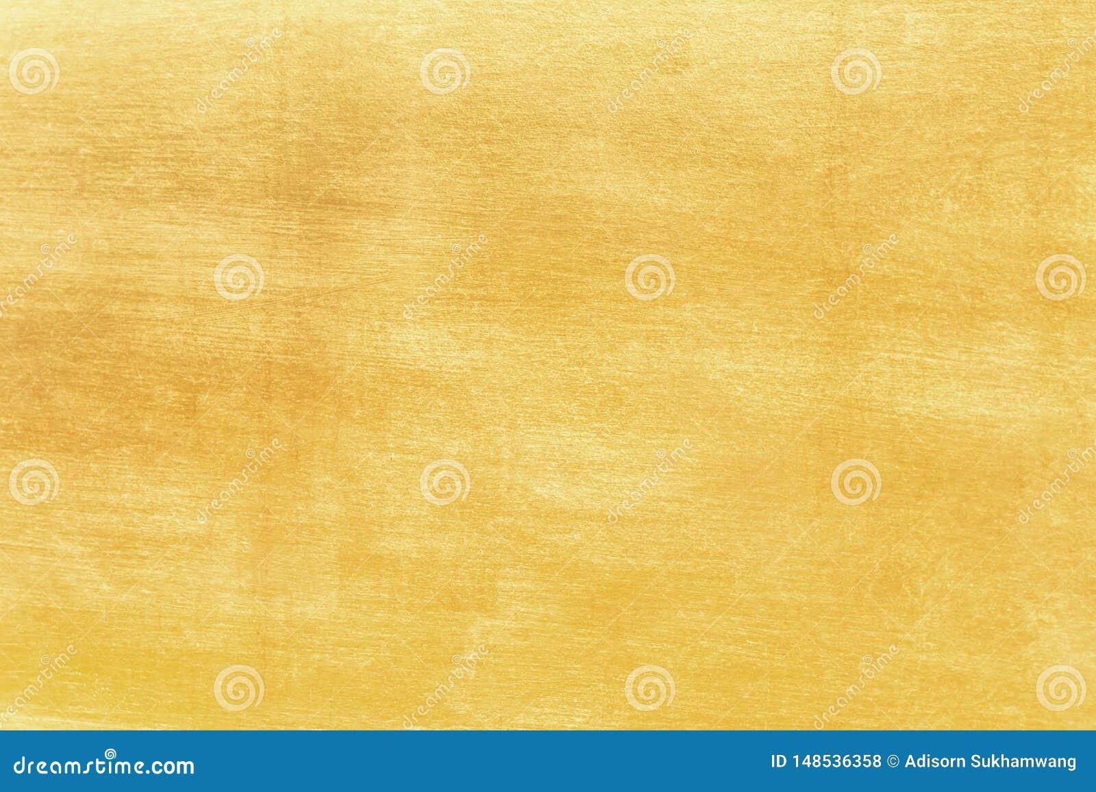 Fundo do ouro ou texturas e sombras, paredes velhas e riscos