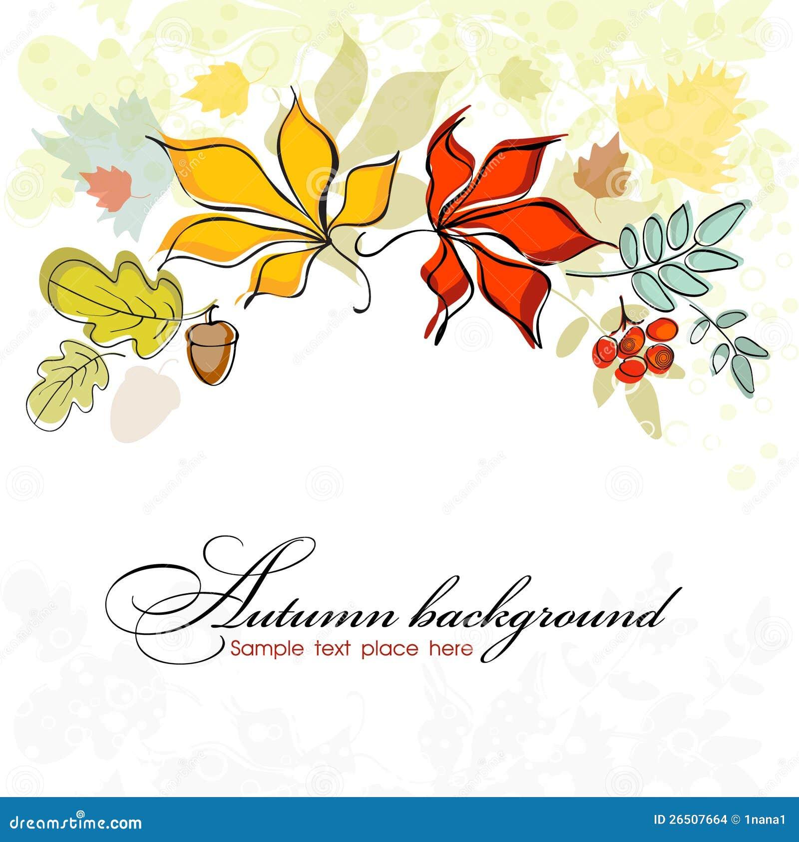 Fundo do outono