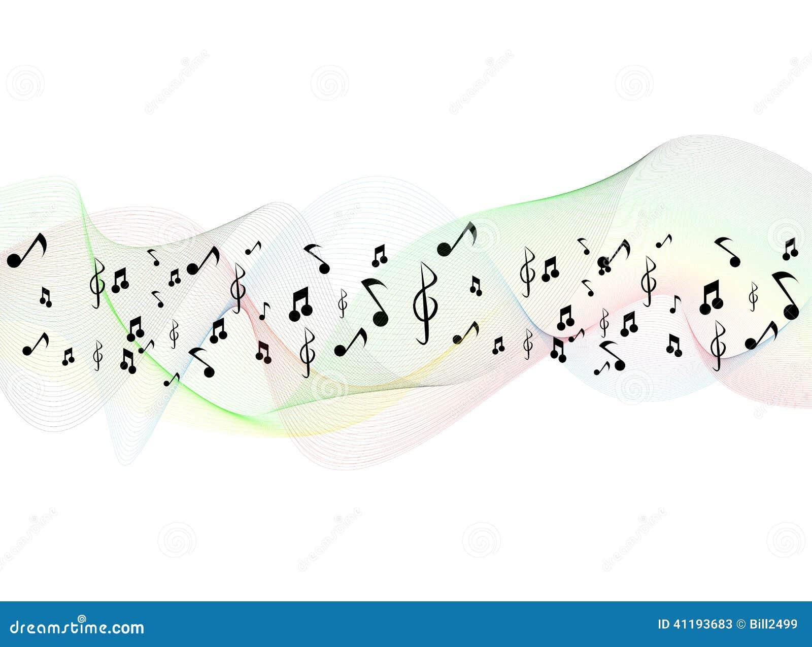 Fundo do pessoal das notas musicais