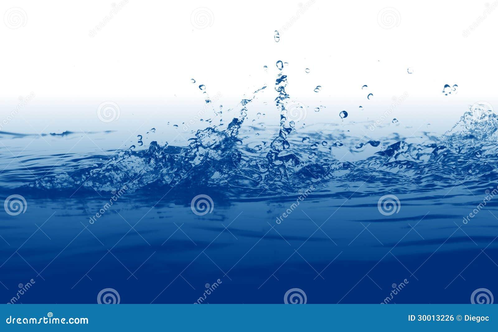 Fundo do respingo da água