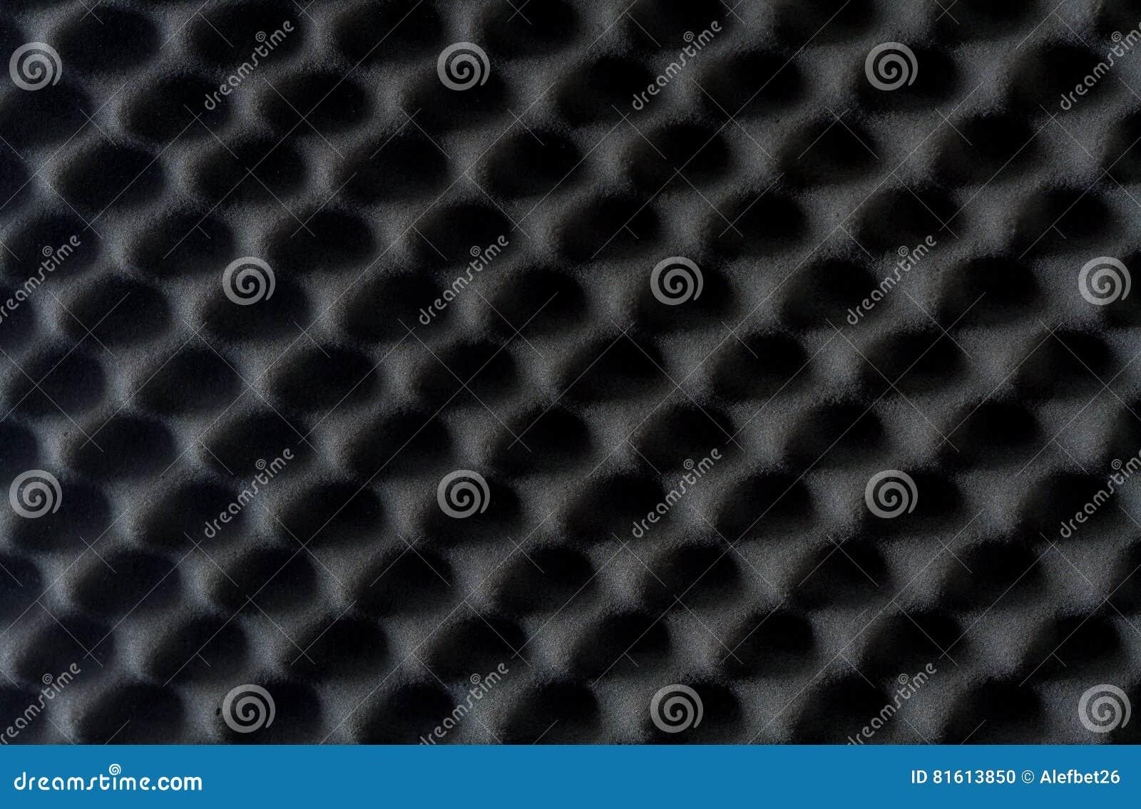 Fundo do som - esponja absorvente, insonorização da parede