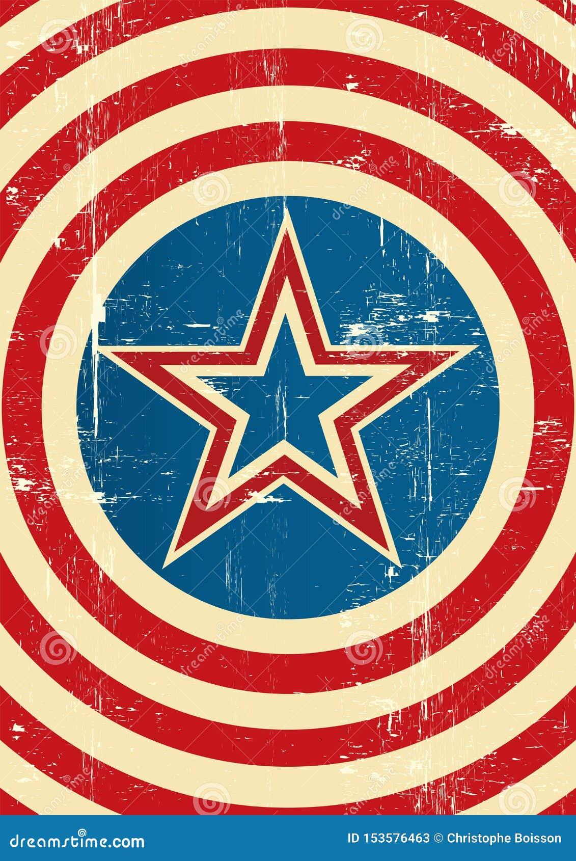 Fundo do super-herói dos EUA
