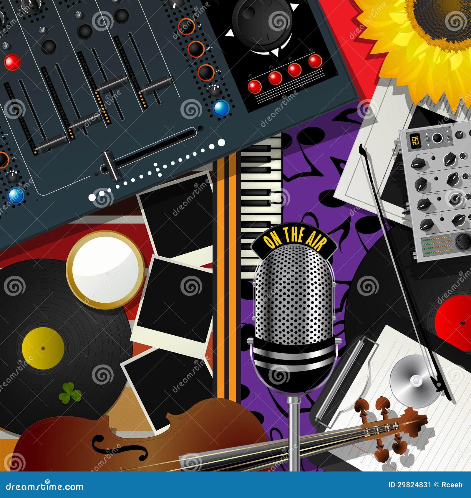 Música moderna do álbum de recortes