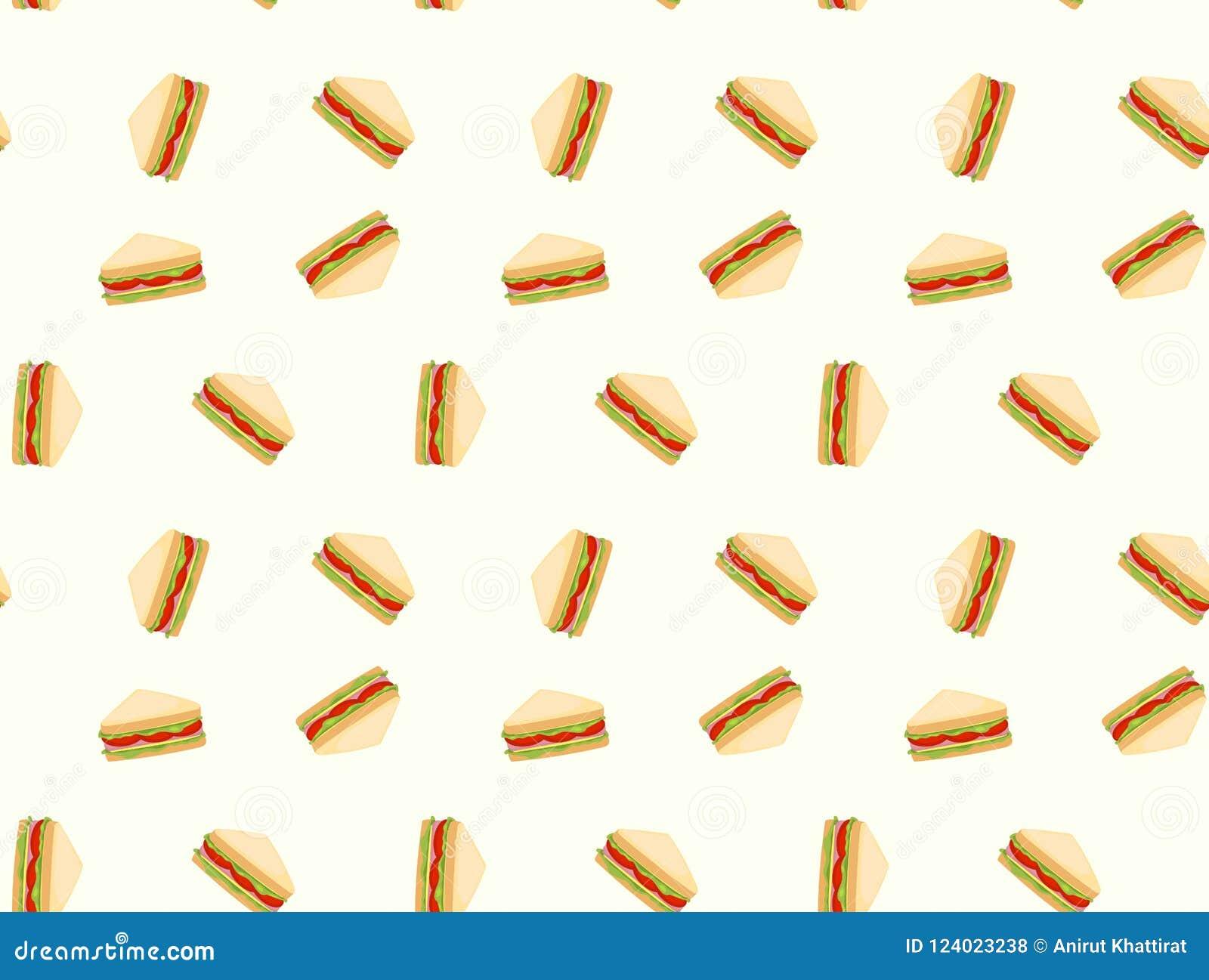 Fundo do teste padrão dos sanduíches