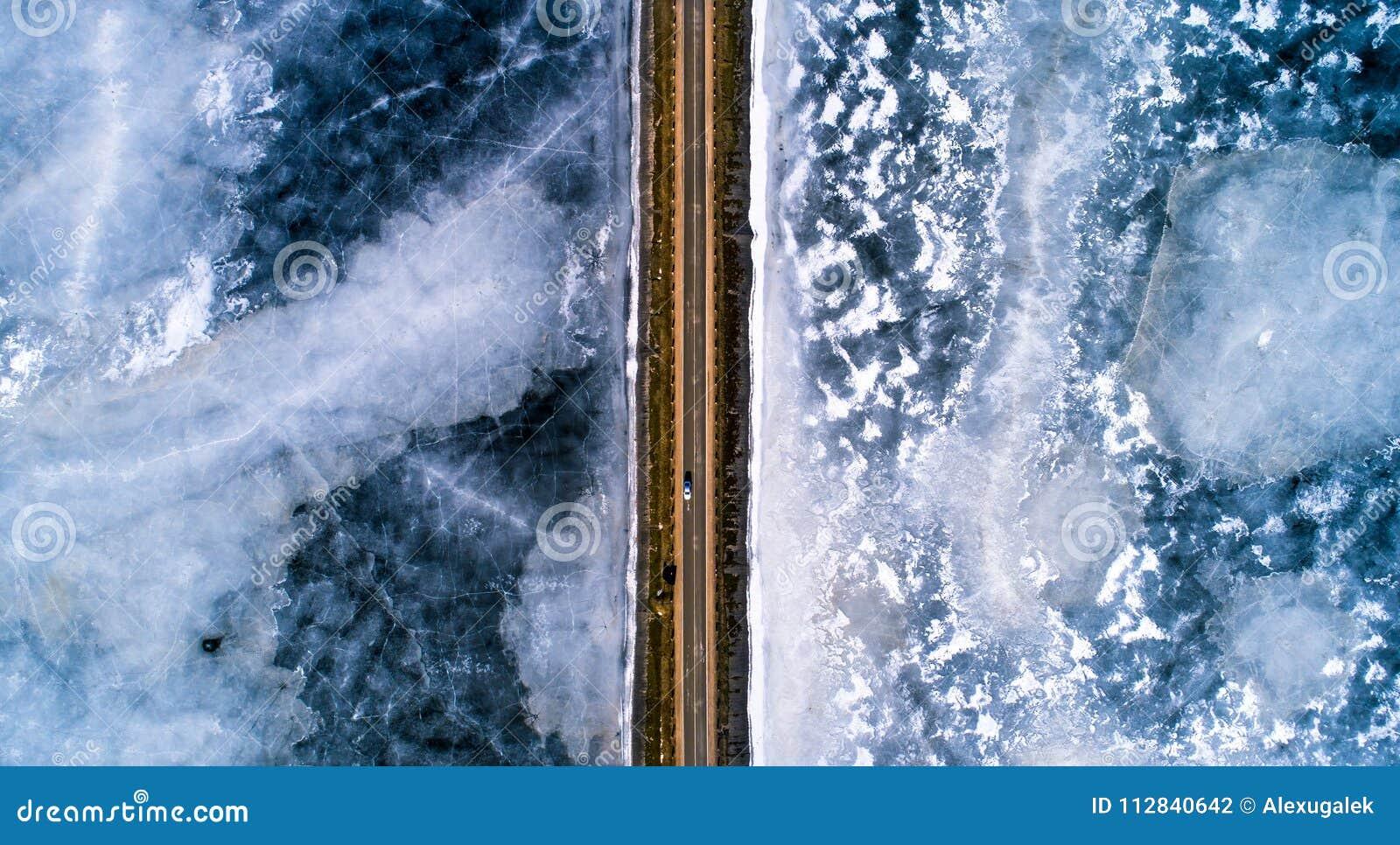 Fundo do transporte do inverno