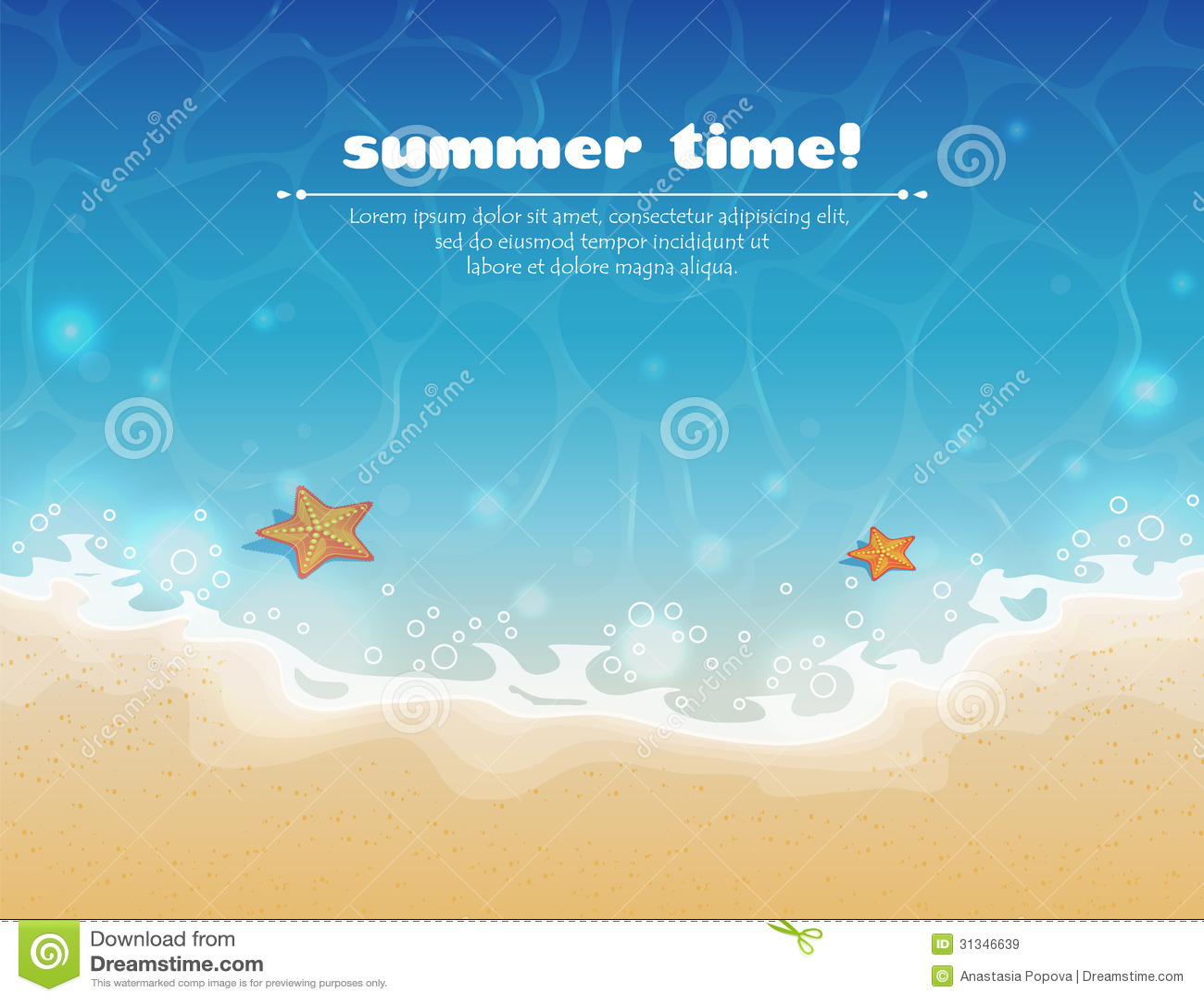 Fundo do verão com areia e água
