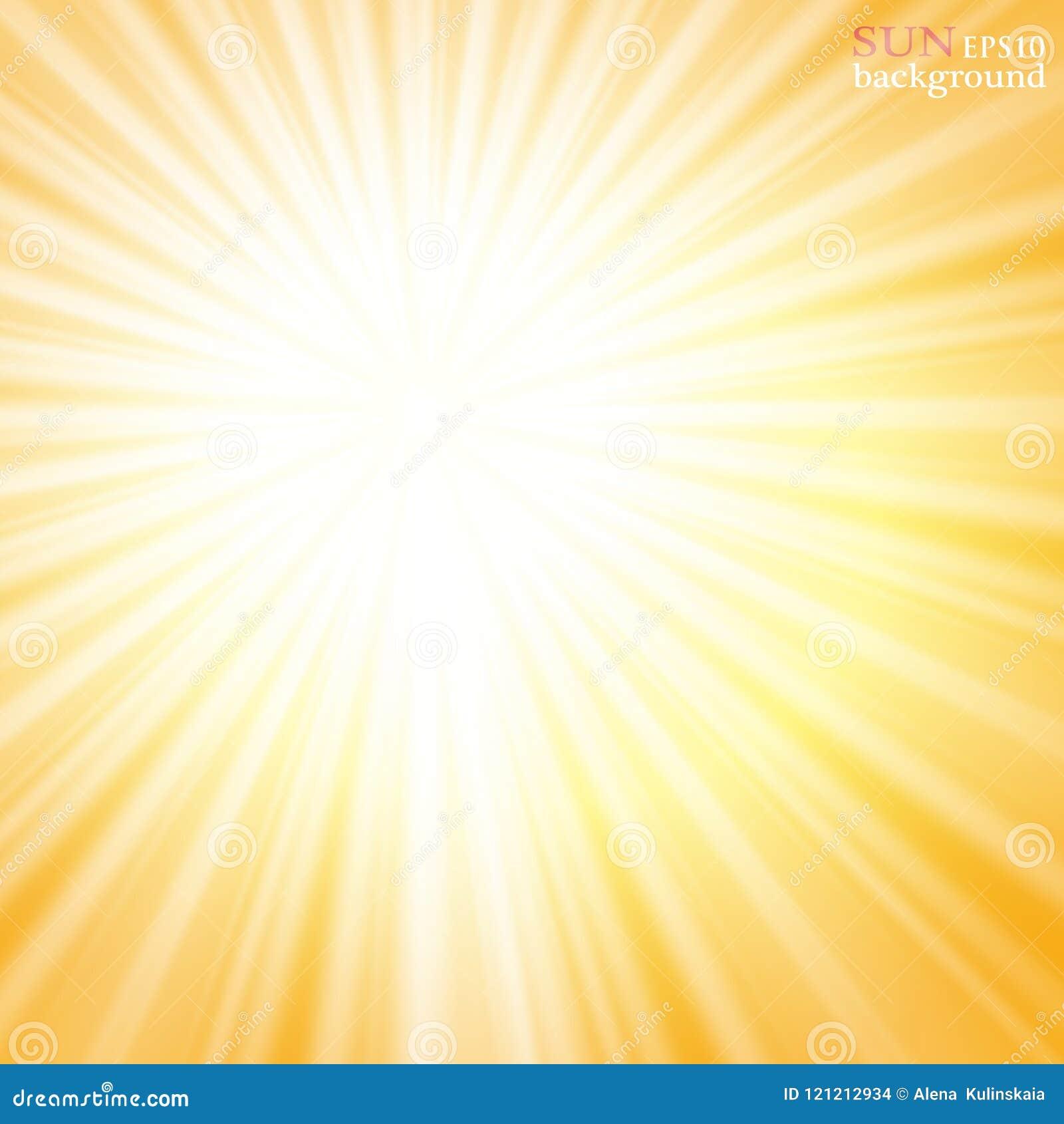 Fundo do verão com um estouro magnífico do sol do verão com alargamento da lente Espaço para seu texto