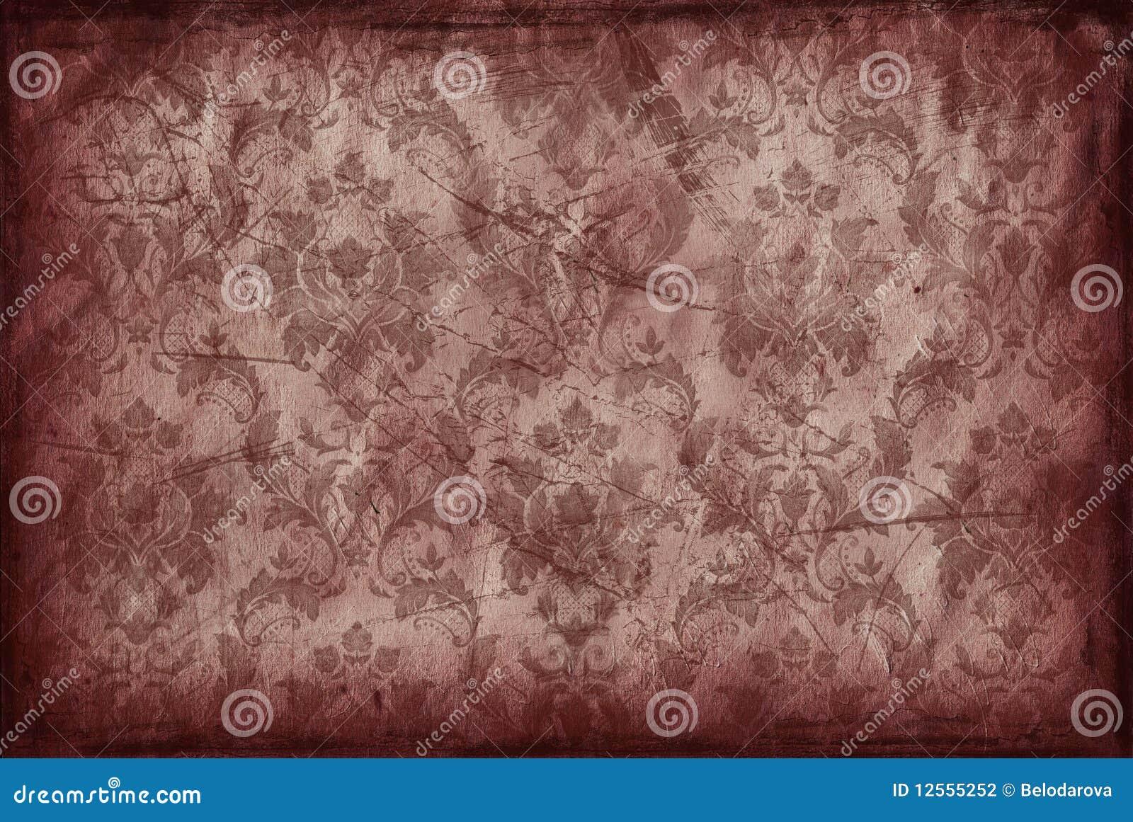 Fundo do vintage do papel de parede marrom velho - Papel de pared retro ...