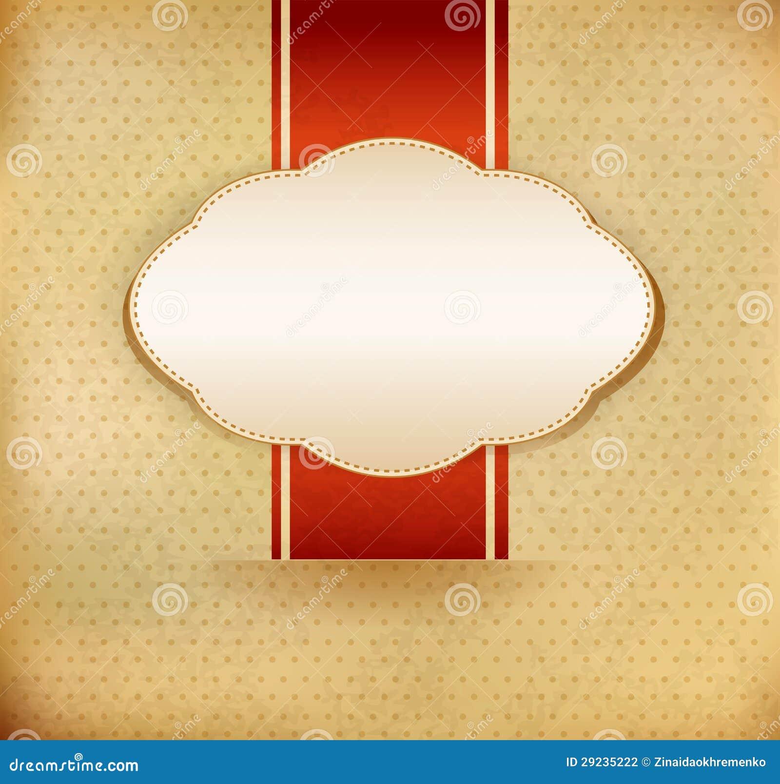 Download Fundo Do Vintage Do Vetor Com Fita Ilustração do Vetor - Ilustração de decoração, envelhecido: 29235222