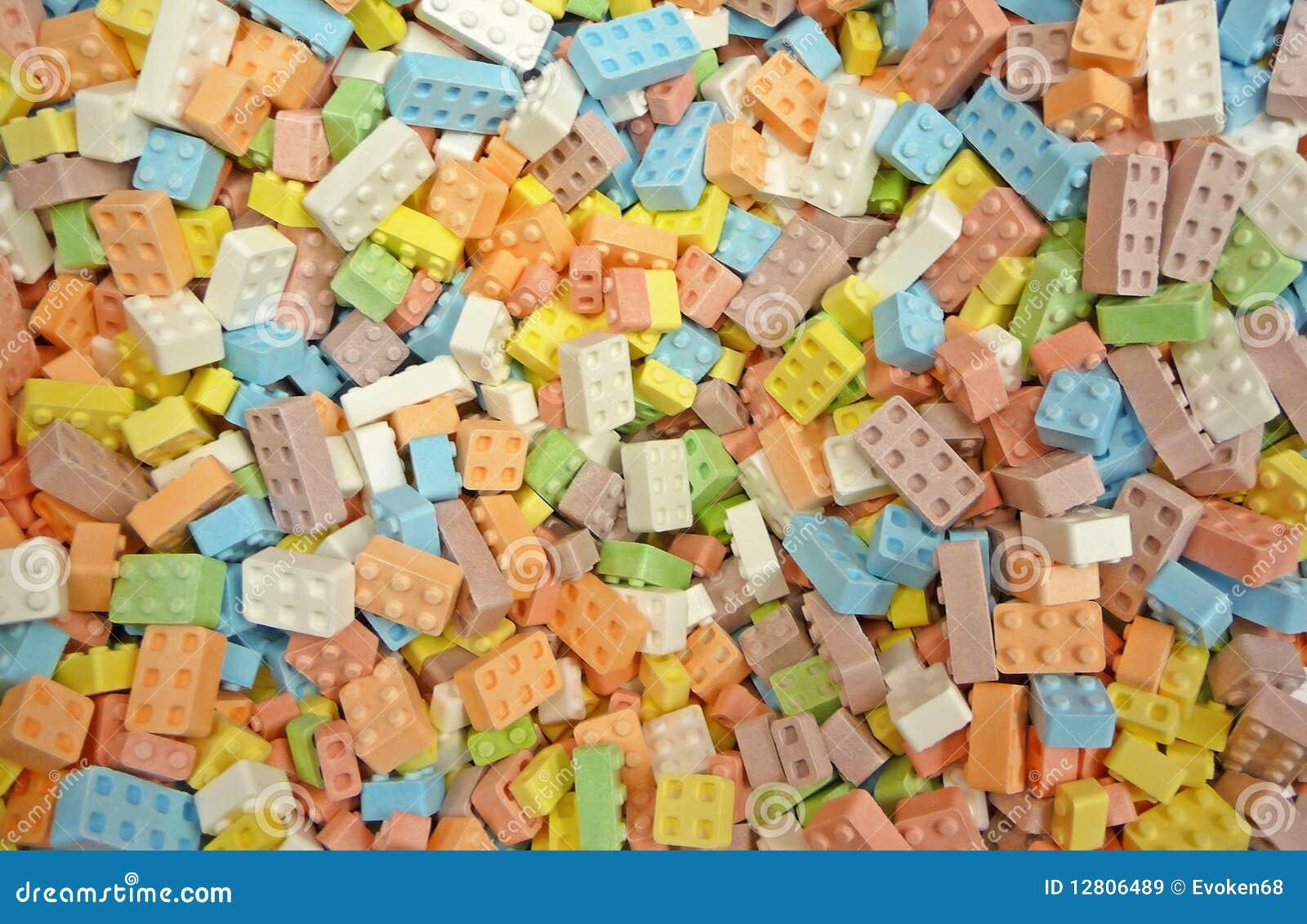 Fundo dos blocos de apartamentos dos doces