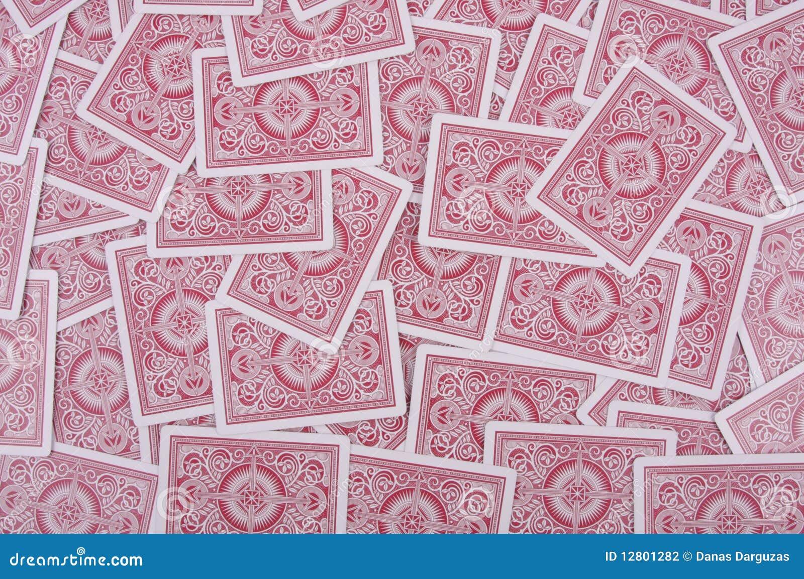 Fundo dos cartões vermelhos