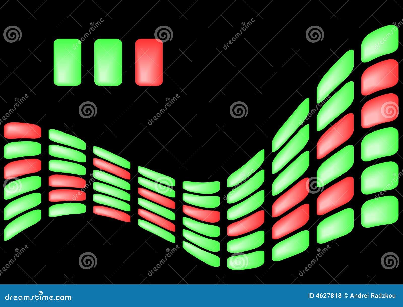 Fundo dos elementos verde-claro e vermelhos